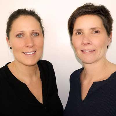 Groepsfoto van Sofie en Saar Wouters